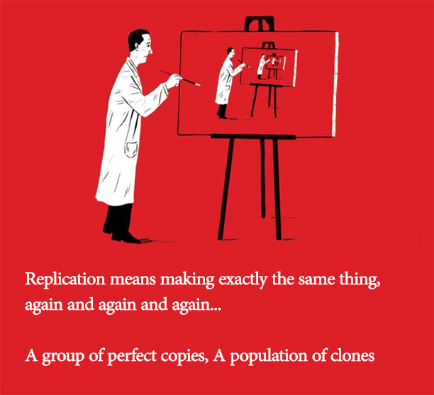 replication means building a community of clones