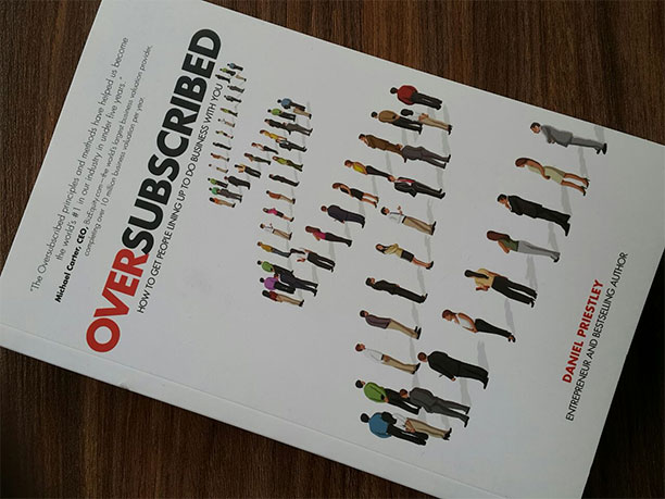 Oversubscribed dan priestly book cover