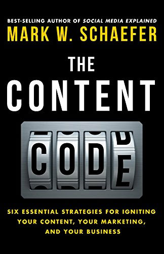 The content code - book cover- By Mark Schaefer who coined the term content shock